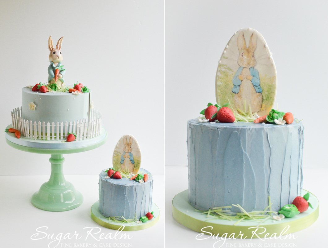 Peter Rabbit Birthday Cake by Sugar Realm Life in a Sugar Kingdom